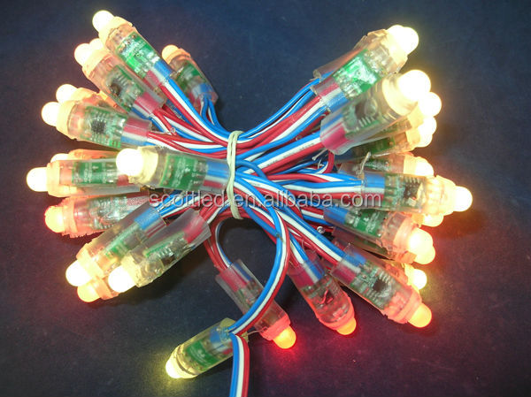 ws2811 pixe led string led for the holidays;DC5V input;full color;50pcs a string;waterproof IP68;round shape