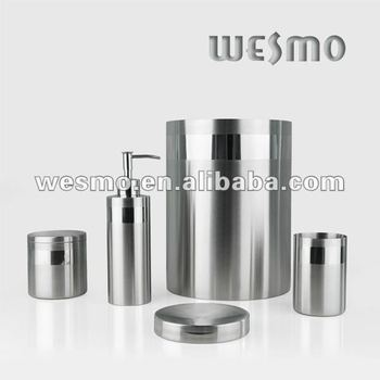 Brushed Stainless Steel Bath Accessory Set Buy Bath Accessory Set European Bath Accessories