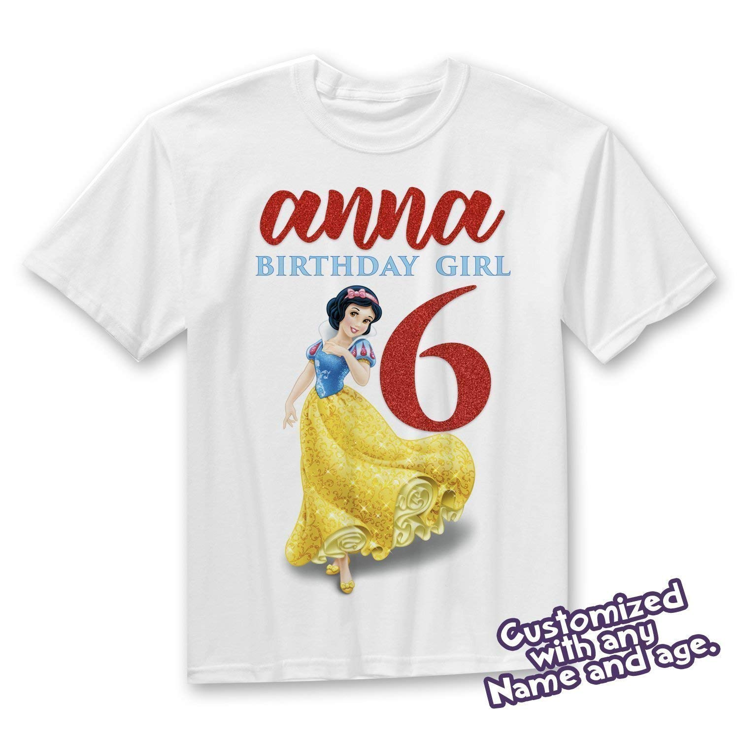 Get Quotations Snow White Birthday Shirt Princess