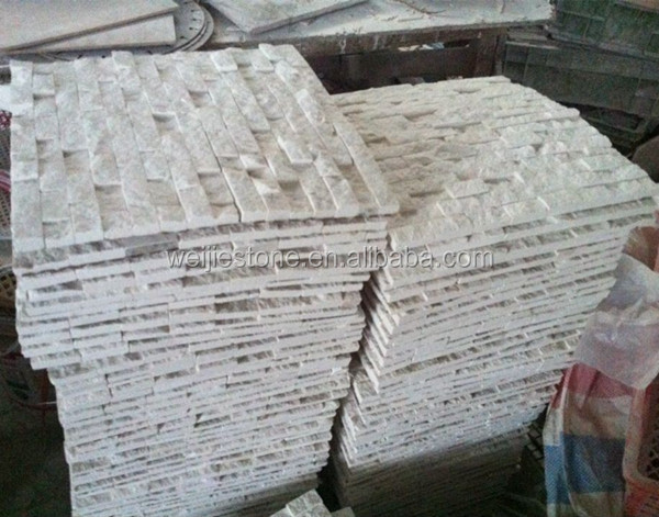white marble split tile white split face stone mosaic tile