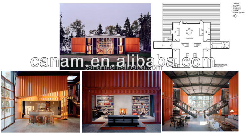 Prefab Modern 40ft shipping container house in china