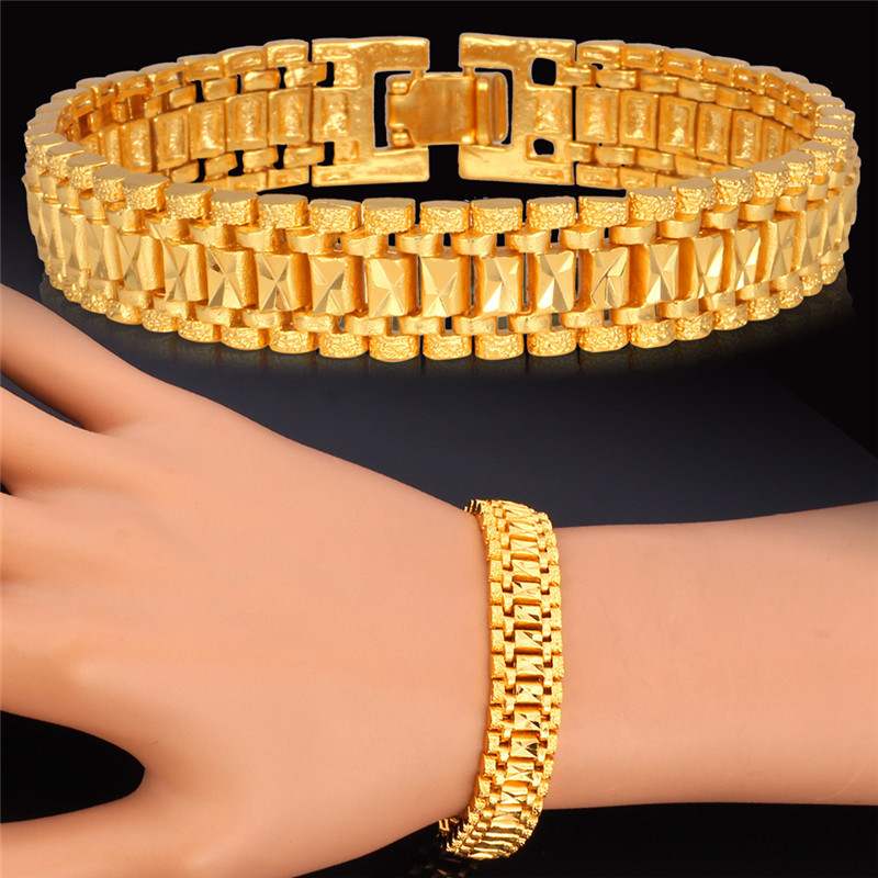 Aliexpress.com : Buy Trendy New Gold Bracelet men Jewelry ...