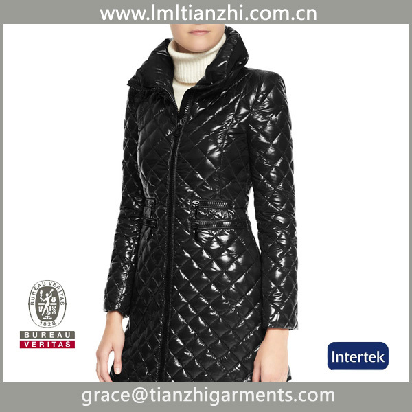 2014 Hot sale diamond quilted down jacket, womens fashion down jacket