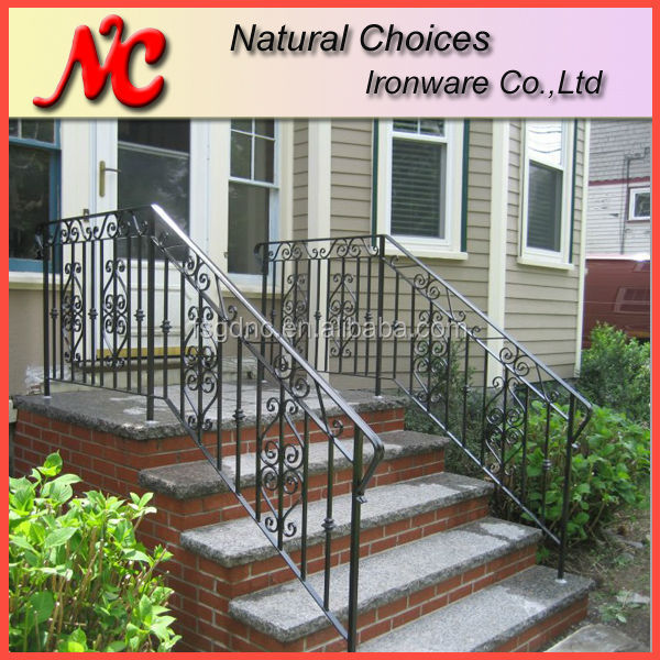 Outdoor Metal Stair Railing  Outdoor Metal Stair Railing Suppliers and  Manufacturers at Alibaba comOutdoor Metal Stair Railing  Outdoor Metal Stair Railing Suppliers  . Exterior Metal Stair Handrails. Home Design Ideas