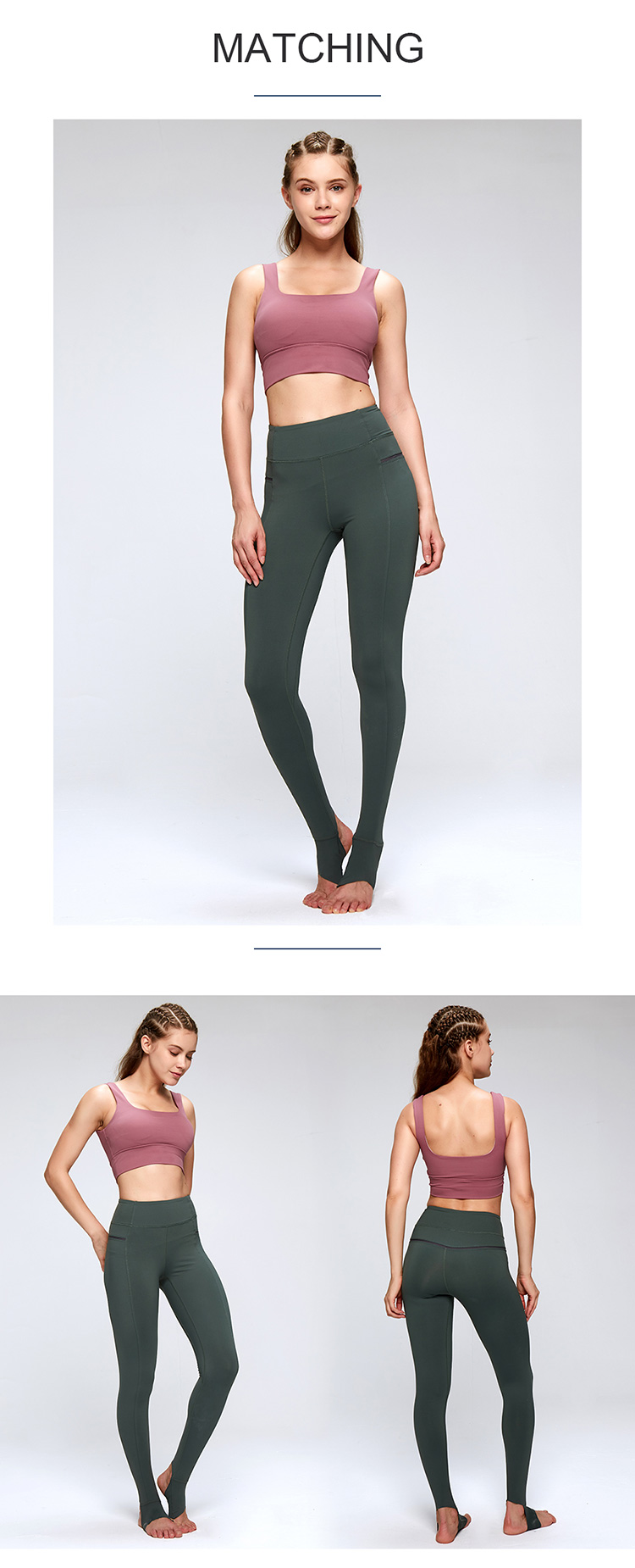 Women high waisted sexy yoga pant 10% discount green trample sports leggins