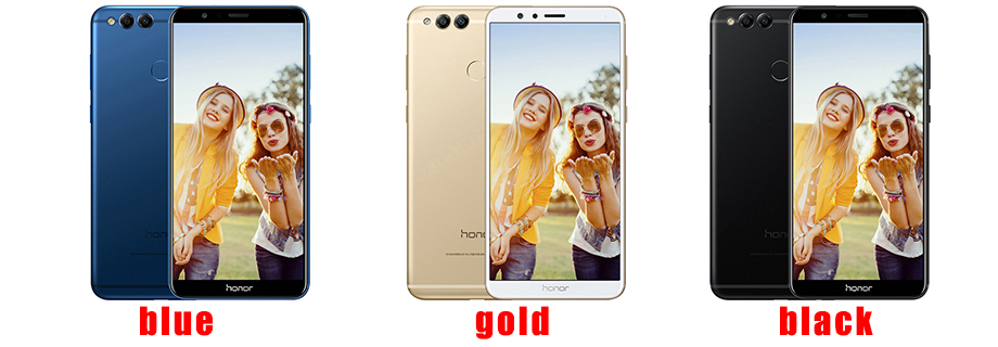 Huawei Honor 7X 4G 32G Mobile Phone Octa Core Dual Rear Camera 3340mAh 5.93 inch 2160*1080P Fingerprint