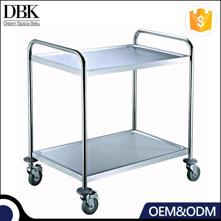 Factory Price Stainless Steel Furniture Dining Trolley Serving Utility Cart For Kitchens