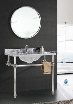 k-7004 polished italian bathroom vanity,modern stainless steel