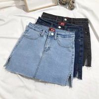 Good price different size casual clothes mature women short skirt denim skirt