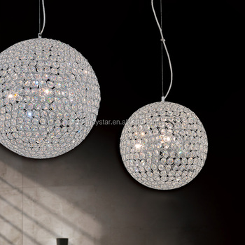 Modern crystal ball pendant light clear crystal beads different size modern crystal ball pendant light clear crystal beads different size offer aloadofball Image collections