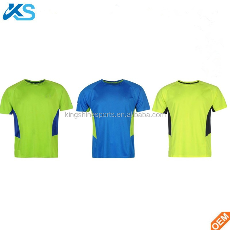 Wholesale Mens Running Cycling Jogging Fitness Short Sleeve T-Shirt Top OEM Training Quick Cool Dry Breathable Tee