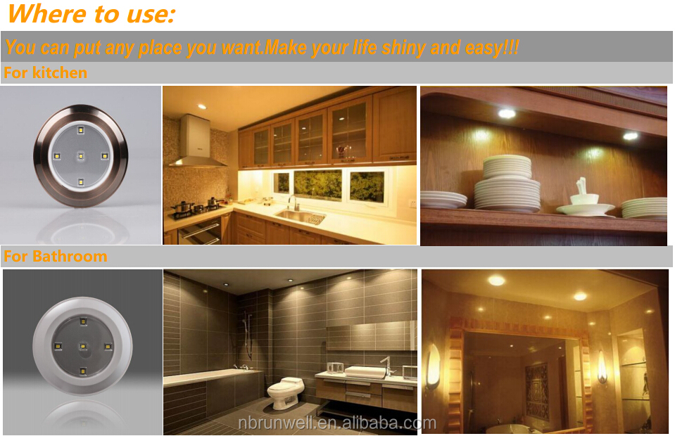 Homemates Led Wireless Under Cabinet Led Lights With Remote - 6 Pk ...