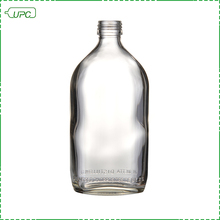 Wholesale brand flat empty vodka glass bottle hip flask 200ml