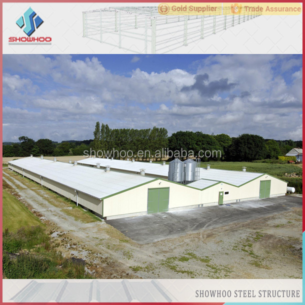 Low Cost Prefab Steel Structure Broiler Layer Building Chicken Poultry Farm  Shed Design - Buy Poultry Farm Design,Poultry Farm House Design,Poultry