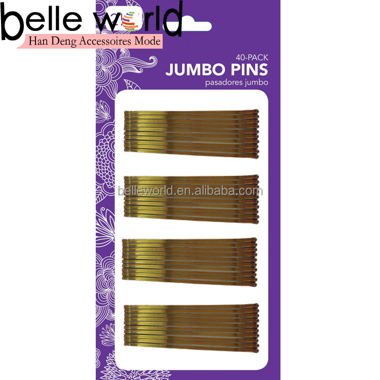gold 40 pack metel hair grips bobby pins