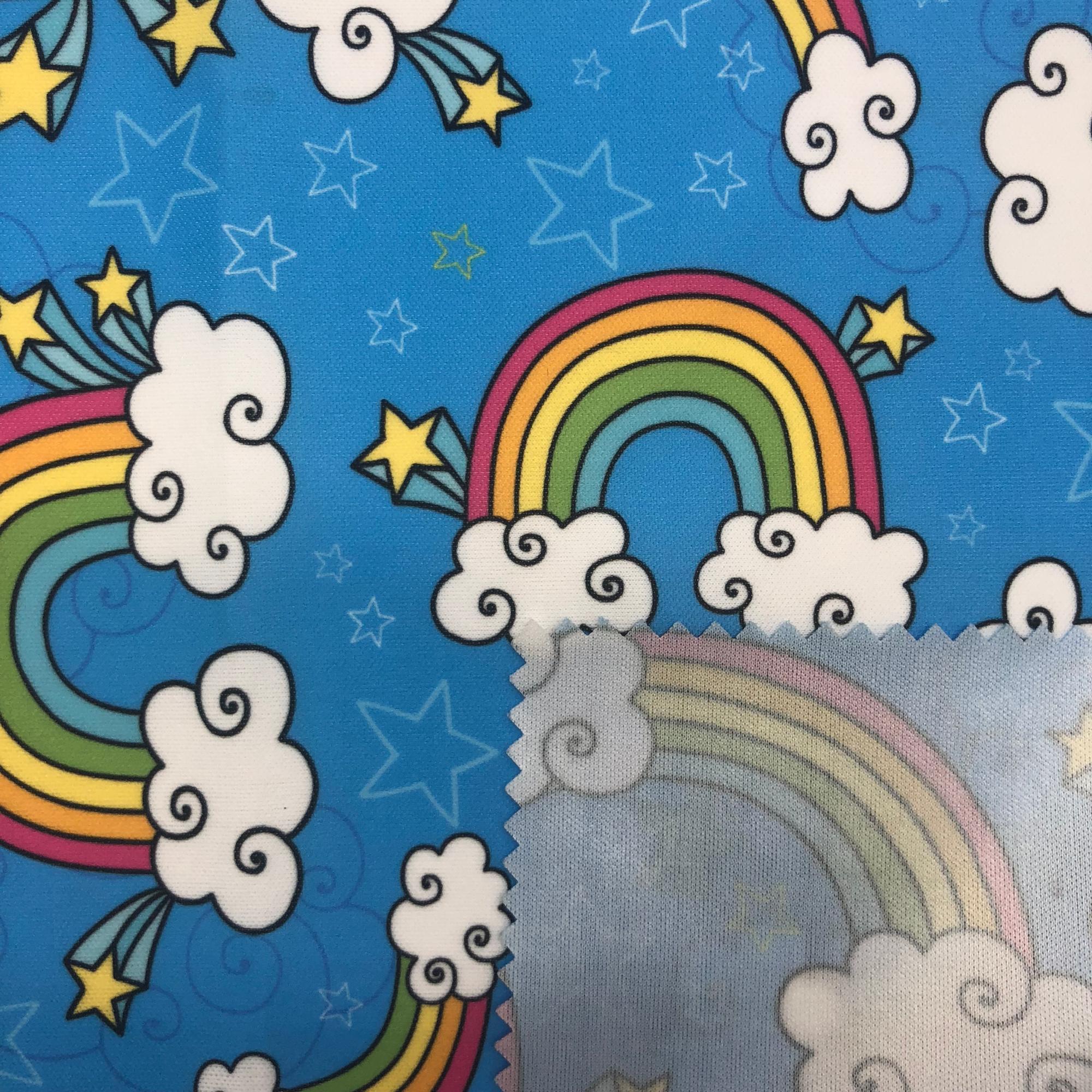 Baixo Moq Aceitar Design Personalizado Impressão Pul Tecido Para Fraldas de Pano