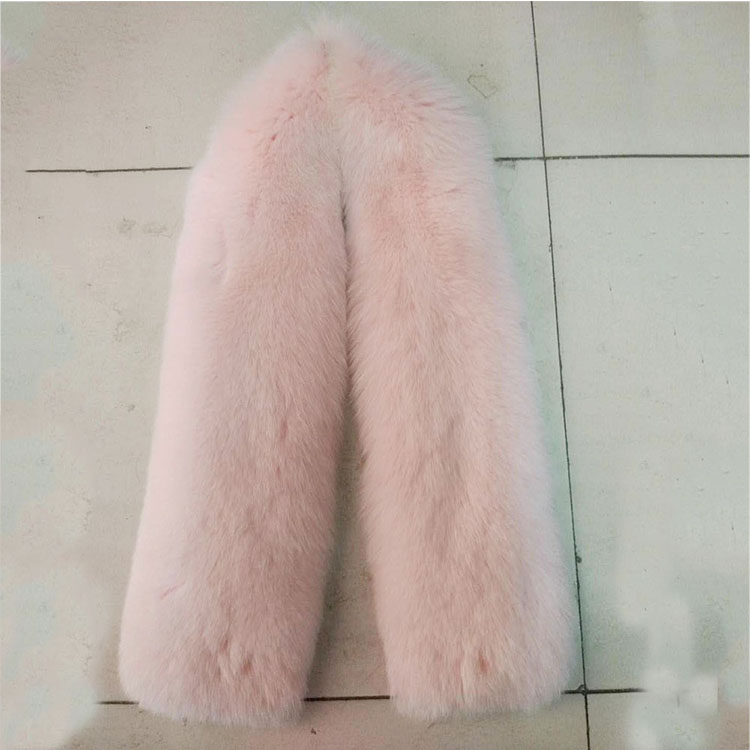 Winter Fashion Women Luxury Blue Long Real Fox Fur Scarf