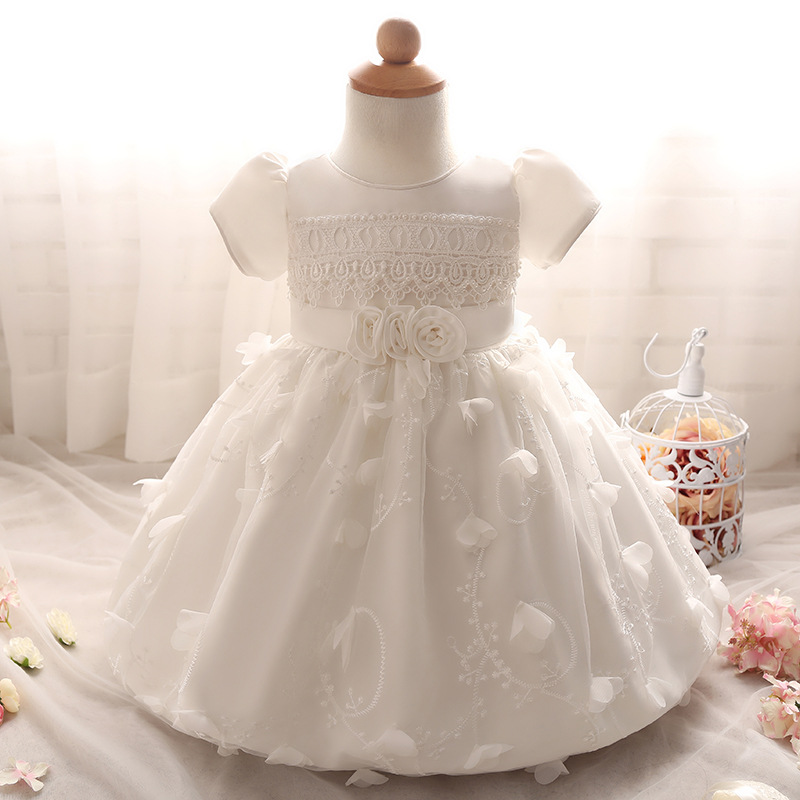 Cheap Baby Girls Wedding Dresses Summer Toddler Flower Puffy Tutu ...