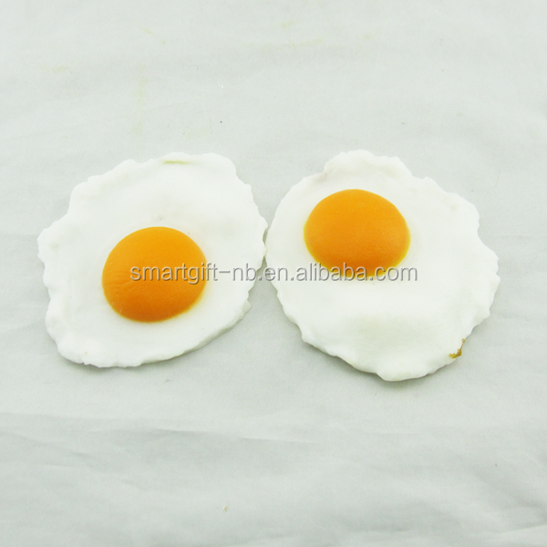 fake artificial lifelike fried eggs food model
