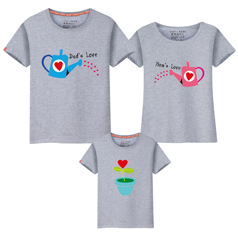3139a93dee 2017 Best Cotton T shirts Family Watering Flower T-shirt family match  outfits 6xl man shirt Mother Son tShirts Family Clothes
