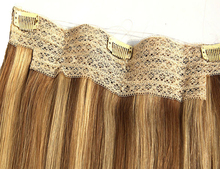 fish wire one piece clip in hair extension 100% human remy Indian hair fish wire hair extensions