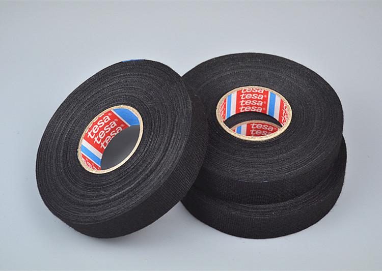 tesa 51608 black/white pet fleece tape for flexibility and noise damping