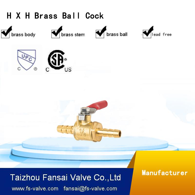 "USA eco-friendly no lead brass forged 3/8"" H*H mini cock gas ball valve"