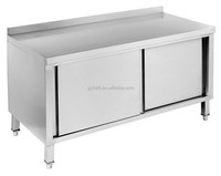 Cabinet Bench with Sliding Doors & Splashback 700 mm Width Series, Dishes Storage Cabinet