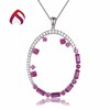 wholesale 925 sterling silver pendant cz silver jewelry pendant for women