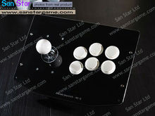 Conexión usb mini extrusora jugador con 6 botón de arcade fighting stick pc