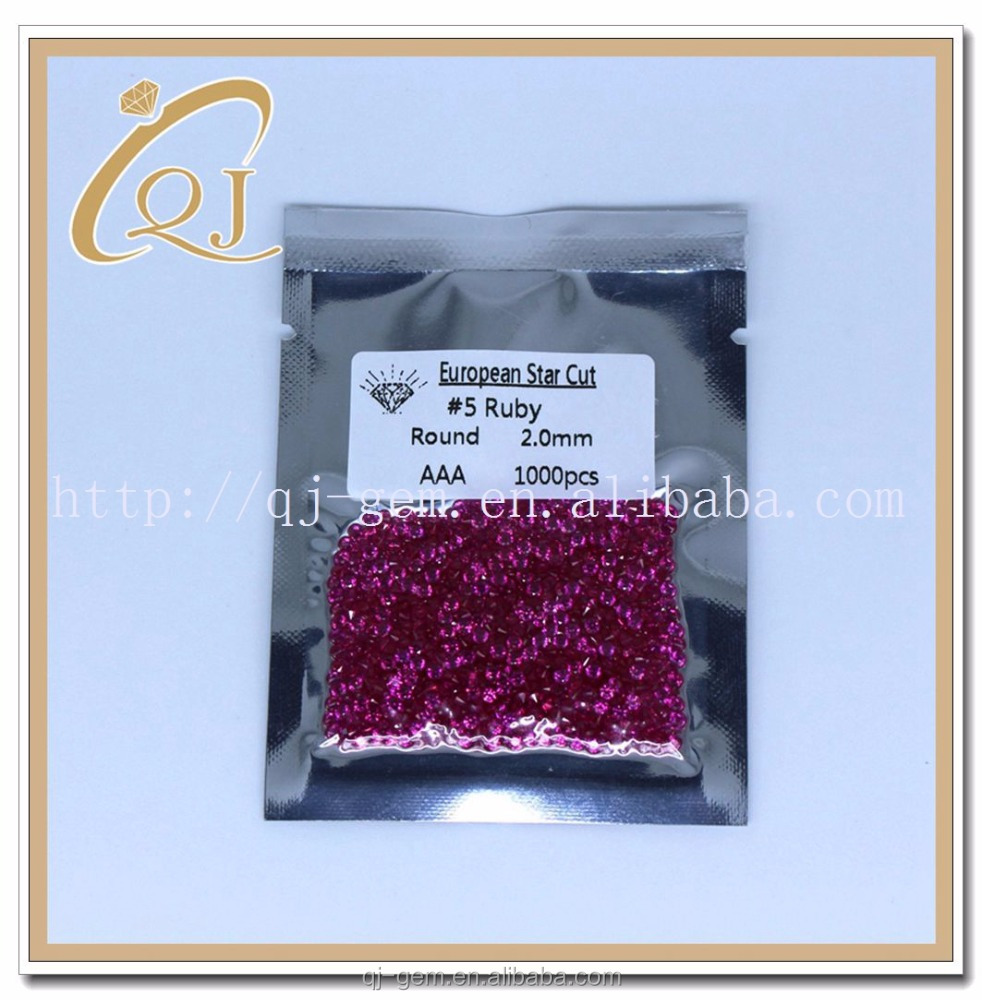 #5 2.0mm Ruby Gemstone Material and Natural Gemstone Type ruby rough <strong>stones</strong>