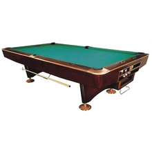 P010 solid wood and slate pool billiard table