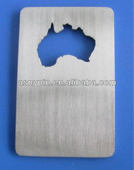 Australia Map Shape.Australia Map Shape Bottle Opener Australia Credit Card Bottle