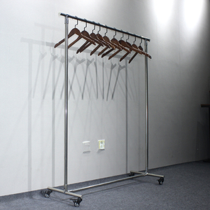 huohua high quality best selling single pole aluminium clothes drying rack with wheels