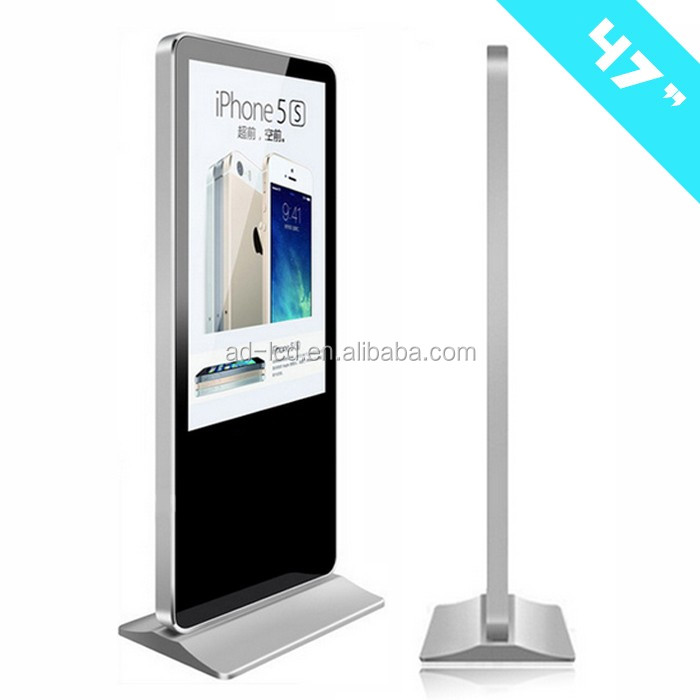 47inch Android wifi touch screen advertising player free standing led display stands