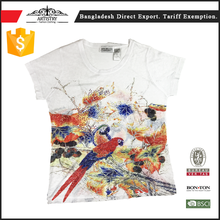 China custom used t-shirt printing for promotion