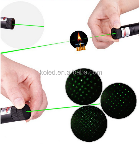 SD 303 Hijau Laser Pointer Daya Tinggi Fokus Adjustable Pertandingan Pembakaran Laser Pointer