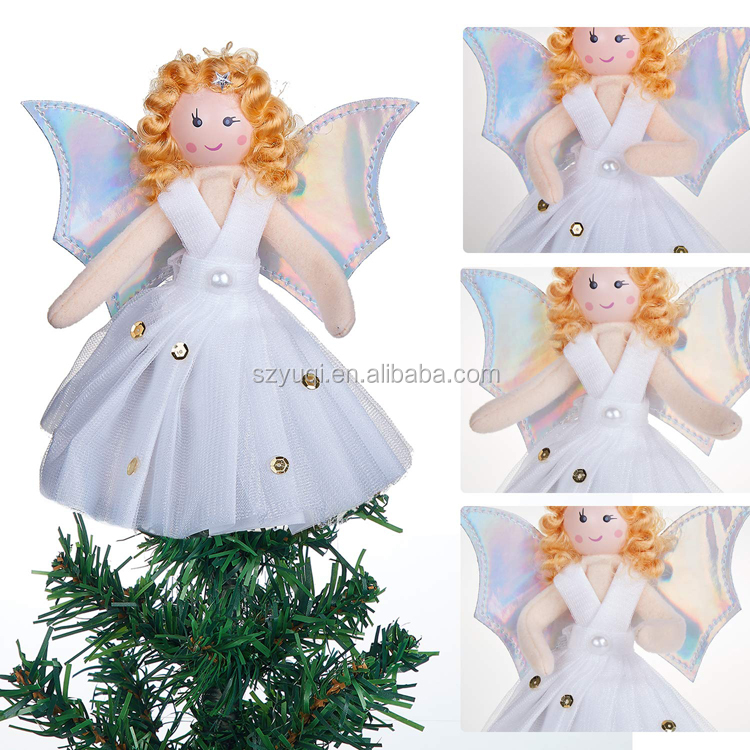 New product ideas 2019 christmas tree decoration angel tree topper for indoor party home decoration