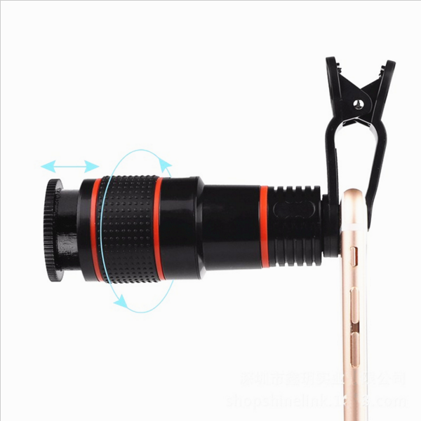 Universal Clip 12X Zoom Mobile Phone Telescope Lens Telephoto External Smartphone Camera Lens For Sale