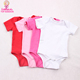 Hot sale USA baby apparel summer short sleeve newborn onesie blank baby creep bodysuit snaps for diaper cover change