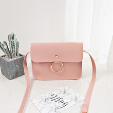 2017 new south Korean fashion trend single shoulder slant cross ring small bag wholesale