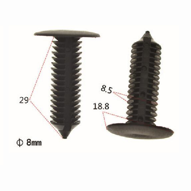 auto plastic trim panel fasteners&clips plastic c clips fastener 8.5 mm Stem diameter 29 mm Stem Length 18.8 mm Head diameter
