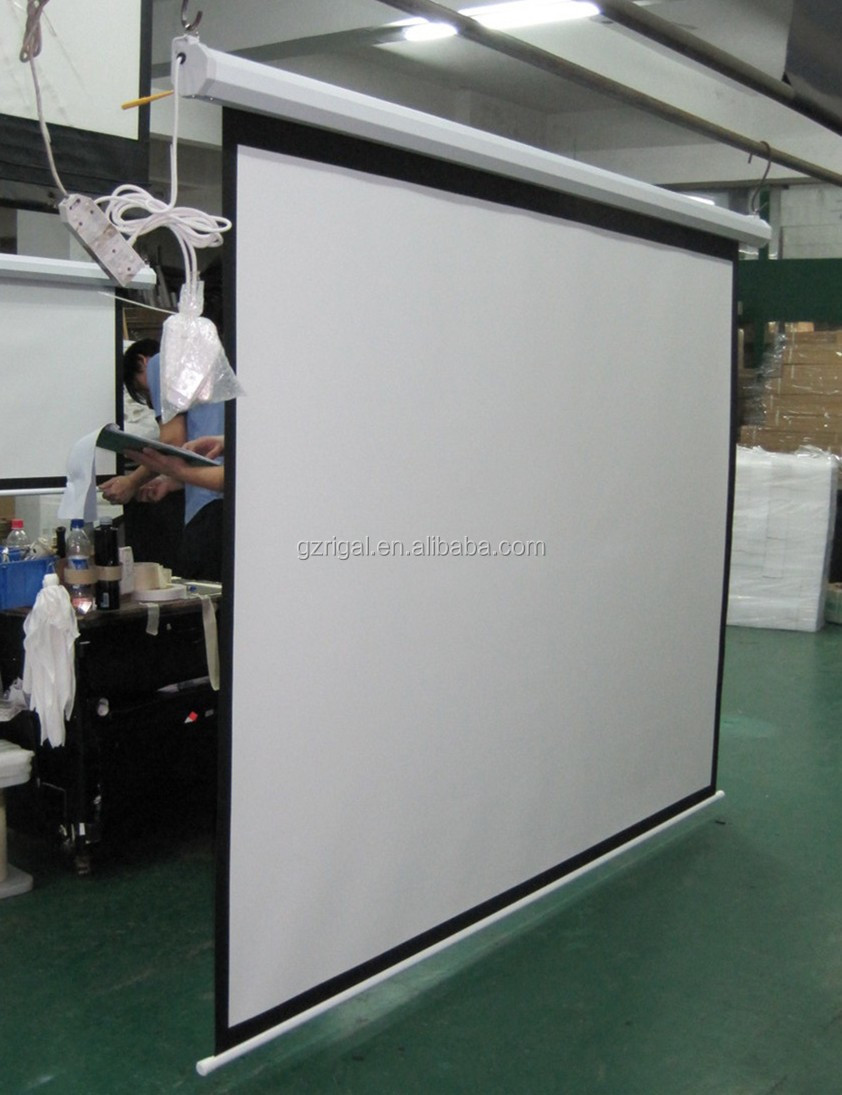 Electric Projector Screen for LED digital projector Motorized Screen for indoor or outdoor matt white