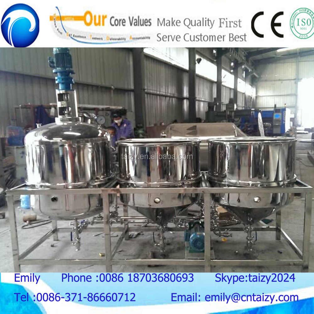 low price small edible oil refinery machine/cooking oil refinery equipment