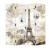 Bedroom living room screen city landscape printing canvas wholesale cheap Removable Room Divider