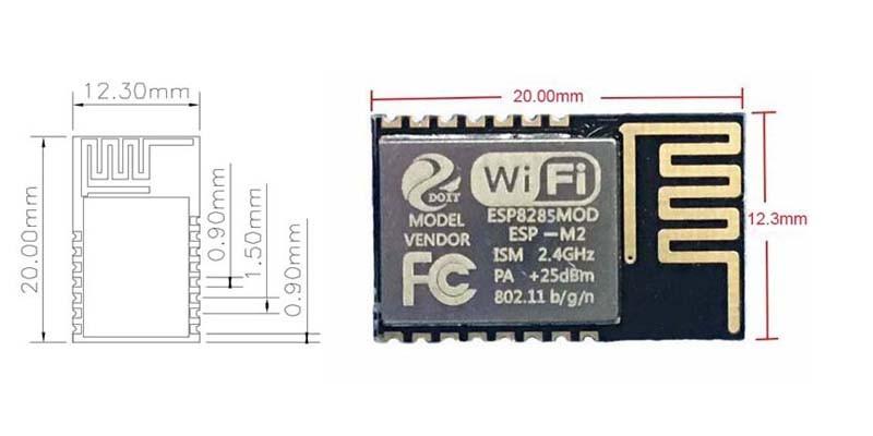 Esp8285 Esp-m2 Serial Port Wifi Module Better And Compatible With Esp8266  Esp-12e - Buy Esp-m2,Esp8266 Esp-12e,Esp-12e Product on Alibaba com