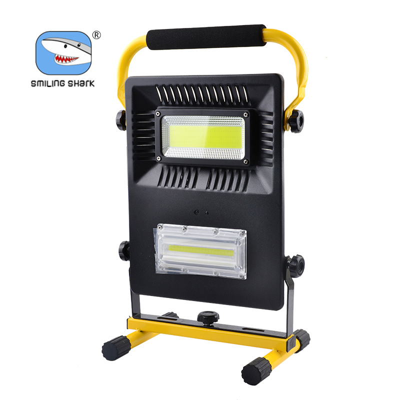 SMILINGSHARK Hot Sale Rchargeable 80W Waterproof outdoor led lights portable Work Lighting LED Flood Light