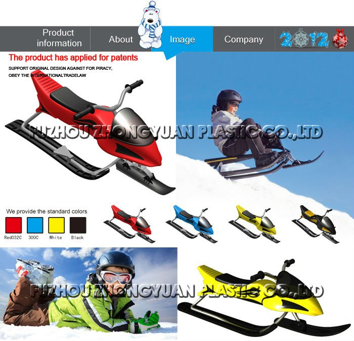 New design plastic snowmobile toy