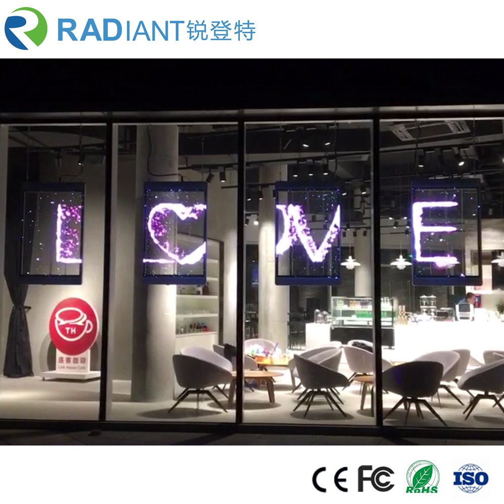 China Best Quality High Brightness P3.9 Window Glass Transparent LED Display <strong>Screen</strong> Manufacturer