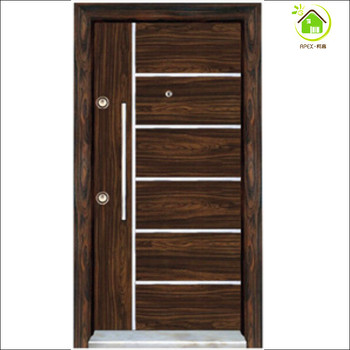 Wooden Steel Doors Wooden Door Armoured Door With Aluminum